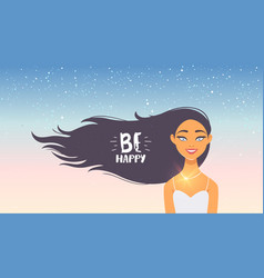 girl happy vector image