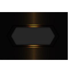 gold hexagon banner luxury vector image