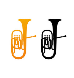 Golden icon of tuba vector