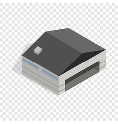 Hangar isometric icon vector