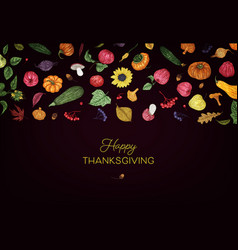 Happy thanksgiving autumn seasons background vector