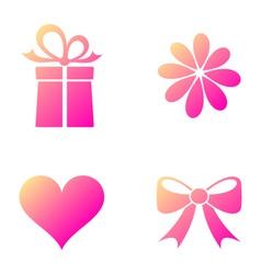 Happy valentine icons vector image