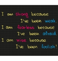 I am strong because vector