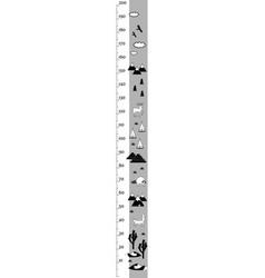 kids height chart in minimalistic scandinavian vector image