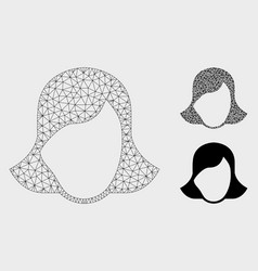 Lady face template mesh 2d model and vector