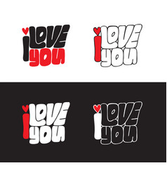 Lettering i love you handwritten vector