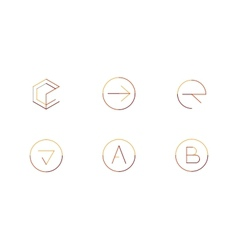 Logo set thin line clean style vector image