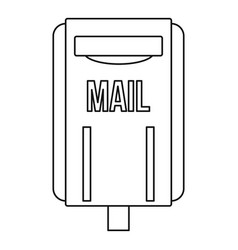 mail box post icon outline style vector image