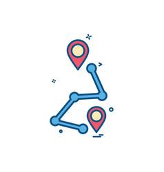 map location navigation gps icon design vector image