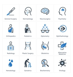 Medical and Health Care Icons Set 2 - Specialties vector