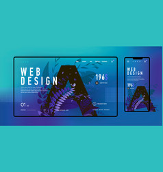 mobile and desktop website template and interface vector image