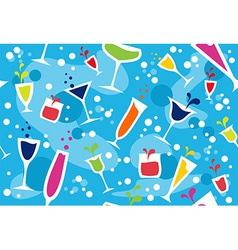 Multicolour cocktail pattern vector