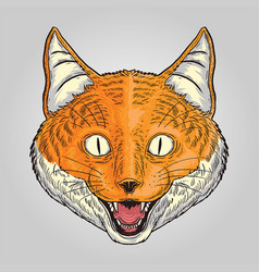 orange fox vector image