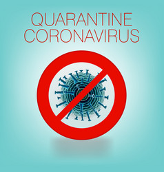 Pandemic virus covid-19 virus wuhan stop sign vector