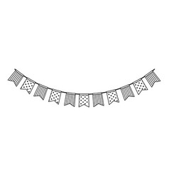 party garland isolated icon vector image