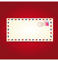 Postcard blank template with stamp vector