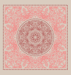 red bandana marsala trendy color vector image