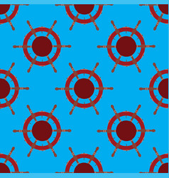 seamless pattern with steering wheel columbus day vector image