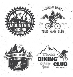 set of mountain biking clubs vector image