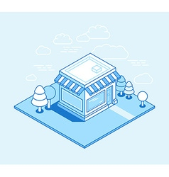 shop building isometric vector image
