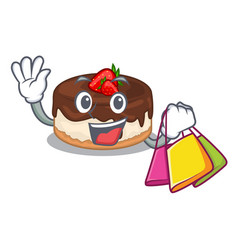 Shopping cake berries in character that fresh vector