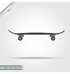 Skateboard sport icon - vector image