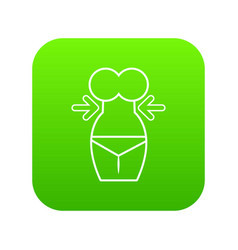 spa body silhouette icon green vector image