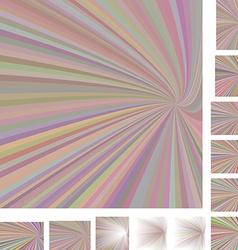 Spiral background design set vector
