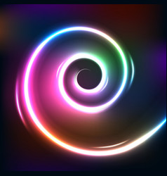 spiral gradient light vector image