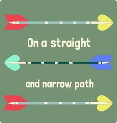 Straight and narrow vector