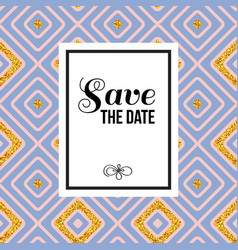 Stylish save the date wedding invitation vector
