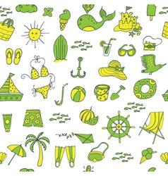 Summer seamless pattern green yellow vector