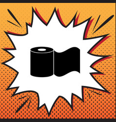 toilet paper sign comics style icon on vector image