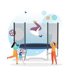 trampoline concept for web banner website vector image