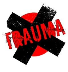 Trauma rubber stamp vector