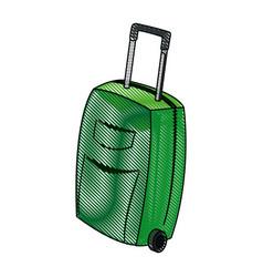 Travel case wheel travel handle image vector