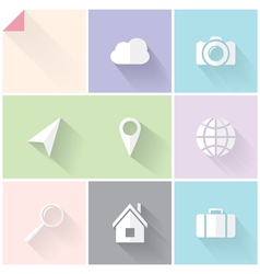 Two-colored flat icons vector image