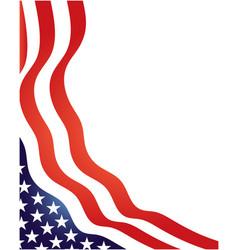 usa flag symbols stripes and stars wavy corner vector image