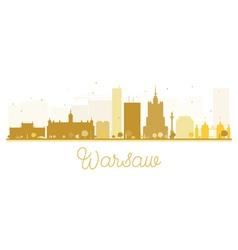 Warsaw City skyline golden silhouette vector