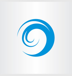Water wave logo symbol vector