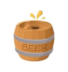 wooden barrel beer icon cartoon style vector image
