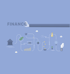 finance process background vector image