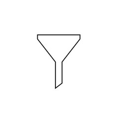funnel simple linear icon vector image