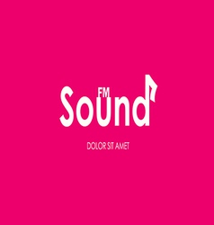 Music sounds typography vector image