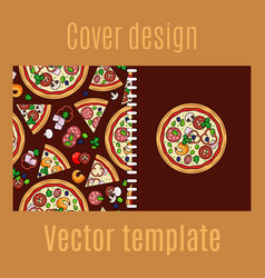 cover design with cartoon pizza vector image