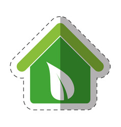 environment house recycling icon vector image