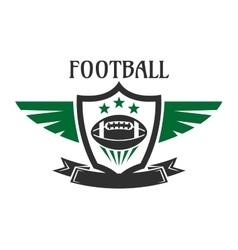Football sports team heraldic insignia with ball vector image vector image