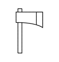farm ax tool equipment cutting instrument vector image