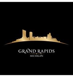 Grand Rapids Michigan city skyline silhouette vector image