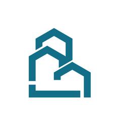 line building logo vector image